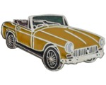 MG CHROME BUMPER MIDGET LAPEL PIN