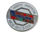NORTH AMERICAN MGB REGISTER LAPEL PIN