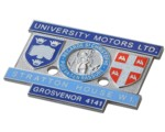 UNIVERSITY MOTORS STRATTON HOUSE BADGE