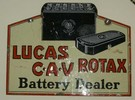 Enamel Lucas Battery Sign
