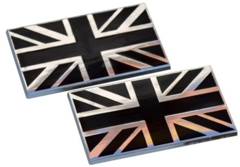 BLACK JACK - UNION JACK BODY BADGE (2) (BB_UJ/BKX2)