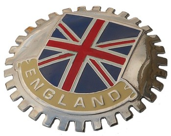 ENGLAND CAR GRILLE BADGE (BGE_STEN)