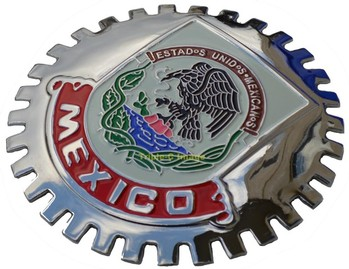 MEXICO CAR GRILLE BADGE (BGE_STMEX)