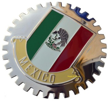 MEXICAN FLAG GRILLE BADGE (BGE_STMEX2)