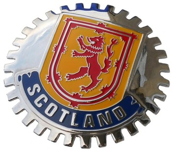 SCOTLAND CAR GRILLE BADGE (BGE_STSC)