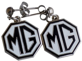 EARRINGS MG BLACK/WHITE (EAR-MGK)