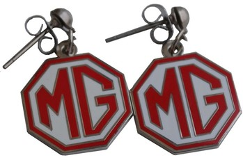 EARRINGS MG RED/WHITE (EAR-MGR)