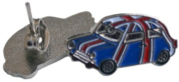 MINI COOPER EARRINGS UNION JACK (EAR-MINI/UJ)