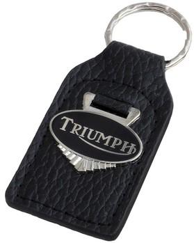 Vintage Norton Black Leather Enamel Logo Motorcycle Keychain Key Chain Fob