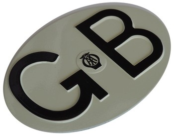 EMBOSSED ENAMELED GB PLATE (GB-15761)
