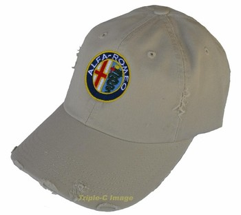 DISTRESSED ALFA ROMEO EMBROIDERED HAT (HAT-ALFA/D)