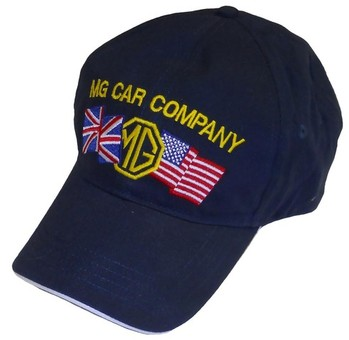 HAT - EMBROIDERED HAT - MG UK/USA BLUE (HAT-MG/FLAGS)