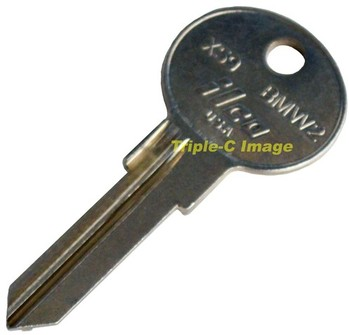 BMW 2 REPLACEMENT IGNITION KEY BLANK (KB-BMW2)