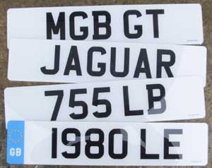 British Acrylic Front License Plate