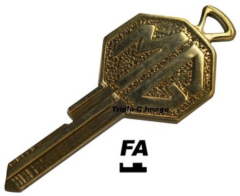 MG BRASS CRESTED FA KEY (P1028/FA)