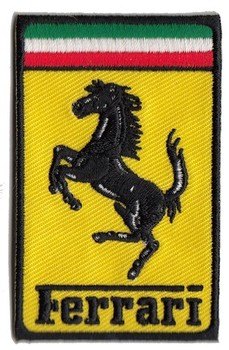 FERRARI RECTANGULAR CLOTH PATCH (PATCH#64)