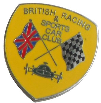 BRITISH RACING SPORTS CAR CLUB LAPEL PIN (P-BRSCC)