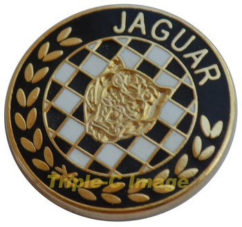 JAGUAR CHEQUERED LAPEL PIN (P-JAG/CHEQ)