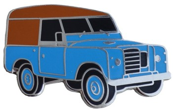 LAND ROVER S3 CAR CUT OUT LAPEL PIN (P-LR/SIII)