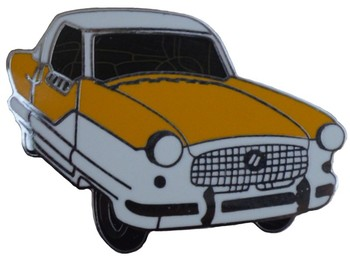 METROPOLITAN CAR CUT OUT LAPEL PIN (P-METRO)