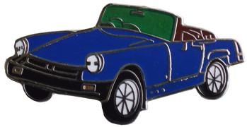 MG RUBBER BUMPER MIDGET LAPEL PIN (P-MID>76)