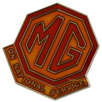 LAPEL PIN - MG ON NATIONAL SERVICE (P-MG/ONS)