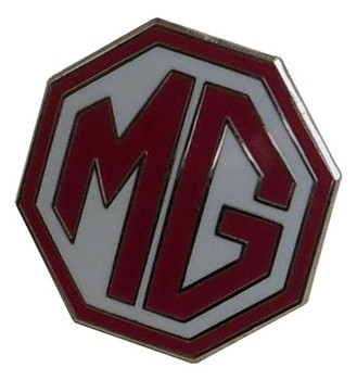 MG OCTAGON LAPEL PIN - WHITE/RED (P-MG/WR)