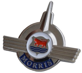 LAPEL PIN - MORRIS MINOR CREST (P-MORRIS/166)