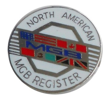 NORTH AMERICAN MGB REGISTER LAPEL PIN (PIN-NAMGBR)