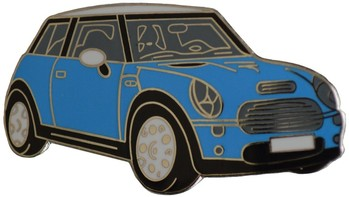 MINI COOPER S ELEC. BLUE LAPEL PIN (P-NM/EB)