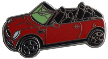 NEW MINI CONVERTIBLE LAPEL PIN (P-NMC)