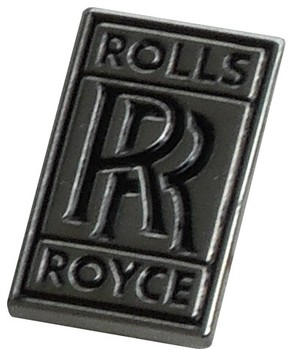 ROLLS ROYCE LAPEL PIN - CHROME / BLACK SMALL (P-RR_BLACK)