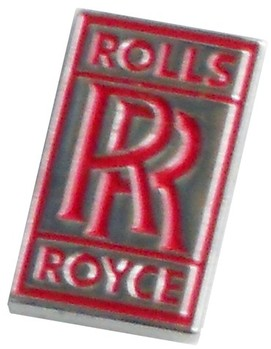 ROLLS ROYCE LAPEL PIN - CHROME / RED SMALL (P-RR_RED)