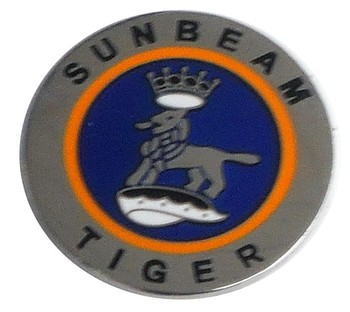 SUNBEAM TIGER LOGO LAPEL PIN (ROUND) (P-SUN/TIGER)