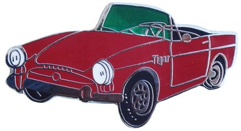 SUNBEAM TIGER CUT OUT LAPEL PIN (P-TIGER)