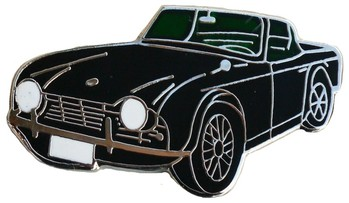 TRIUMPH TR4 CAR CUT-OUT LAPEL PIN (P-TR4)