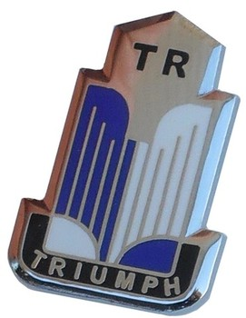 TRIUMPH SHIELD LAPEL PIN (P-TR/BOOK)