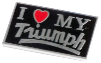 I LOVE MY TRIUMPH LAPEL PIN (P-TR/LOVE)
