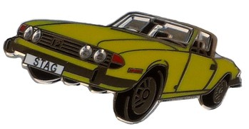 TRIUMPH STAG CUT OUT LAPEL PIN (P-TR/STAG)