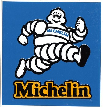 DECAL - MICHELIN MAN RECTANGLE DECAL (STK-23C)