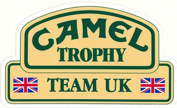 DECAL - CAMEL TROPHY TEAM UK DECAL (STK-98A)