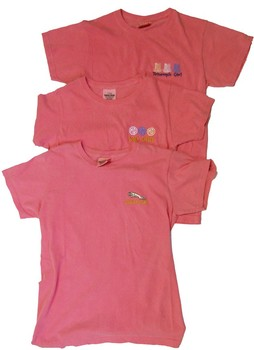 Ladies embroidered T-Shirts