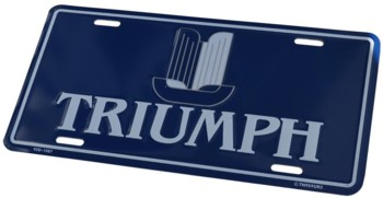 TRIUMPH SHIELD LICENSE PLATE - TAG (TAG_TR)