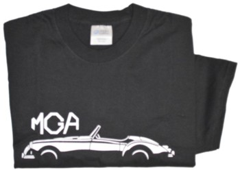 MGA SILHOUETTE ON BLACK T-SHIRT (T-MGA/BW)