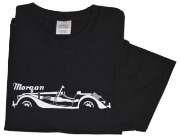 STYLISED MORGAN CAR T-SHIRT (T-MGN/BW)