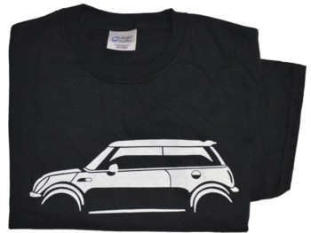 N. MINI SILHOUETTE ON BLACK T-SHIRT (T-MINI/NBW)