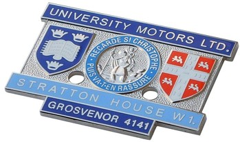 UNIVERSITY MOTORS STRATTON HOUSE BADGE (UML)