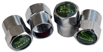 JAGUAR TIRE VALVE STEM CAPS (4) (VC-JAG2)