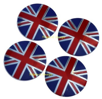 WHEEL CENTER - UNION JACK - 56mm (WC-UJ)